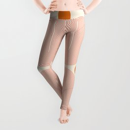 Abstraction_SUN_VISUAL_LINE_ART_Minimalism_001 Leggings