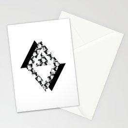 Geometric Gun Art Stationery Cards