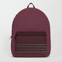 Burgundy combo pattern dark maroon Backpack