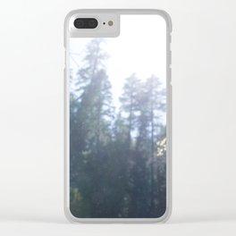 Mist Over Battle Creek Falls Clear iPhone Case