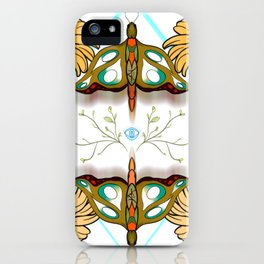 moths and sunflowers iPhone Case