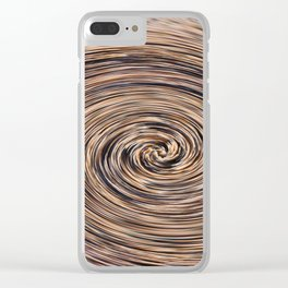 Swirling Sand Clear iPhone Case