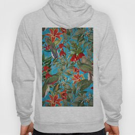 Vintage & Shabby Chic - Tropical Birds and Orchid  Aloha Jungle Hoody