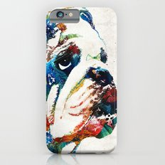Bulldog Pop Art - How Bout A Kiss - By Sharon Cummings iPhone 6 Slim Case