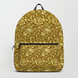 William Morris Sunflowers, Mustard and Golden Yellow Backpack