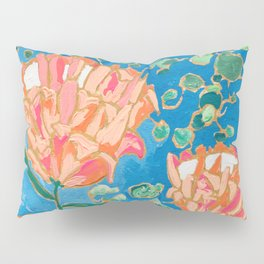 Four Orange Proteas Pillow Sham