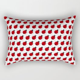 Ladybugs Pattern-White Rectangular Pillow