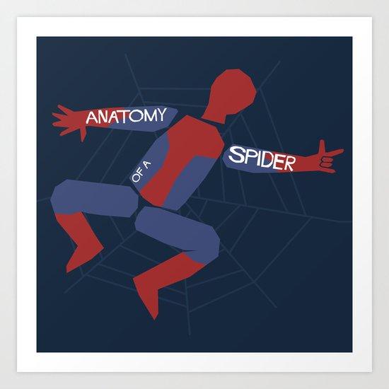 Anatomy of a Spider Art Print