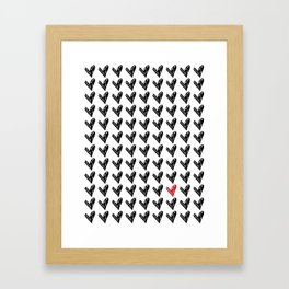 HEARTS ALL OVER PATTERN II Framed Art Print