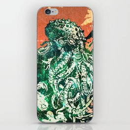 Cthulhu vs Godzilla iPhone Skin