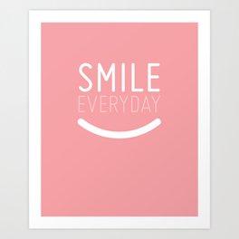 Smile Everyday Art Print