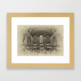 Grand Central Terminal Vintage Framed Art Print