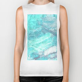 Marble Turquoise Blue Agate Biker Tank