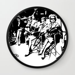 CHRISTMAS AT A FAMOUS BREAKFAST MOVIE SCENE FROM THE 1960'S GIFTS FOR ALL FROM MONOFACES Wall Clock