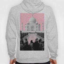 Taj Mahal with pink Hoody