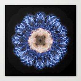 Blue Flower Solo Canvas Print