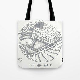 "Armadillo ""Brown Noser"" Tote Bag"