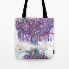 Mystical Tree Illustration Tote Bag
