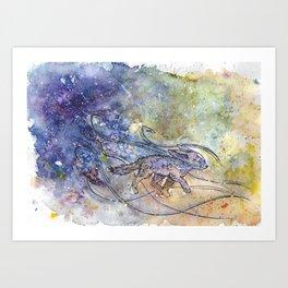 Fennec fox. Resistance. Art Print