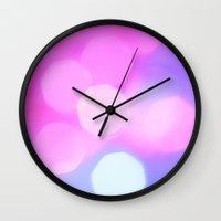bokeh Wall Clocks featuring Bokeh by Mauricio Santana