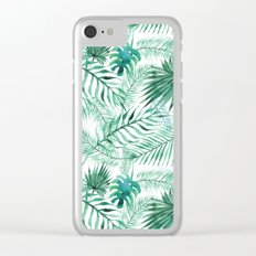 Green Tropical Mix Clear iPhone Case