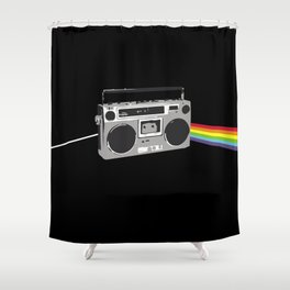Dark Side of the Boombox Shower Curtain