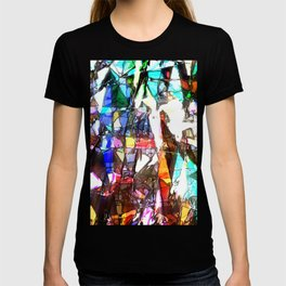 Light Streaming Through Stained Glass T-shirt