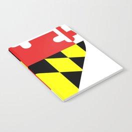 Maryland Flag Heart Notebook