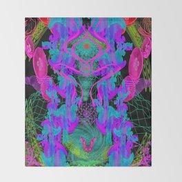 Jellyfish Warp Throw Blanket