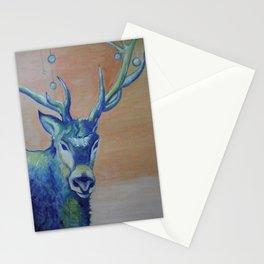 Blue Reindeer by Amit Grubstein  Stationery Cards