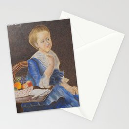 Old woman Stationery Cards