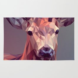 Colorful Polygons Abstract Deer Rug