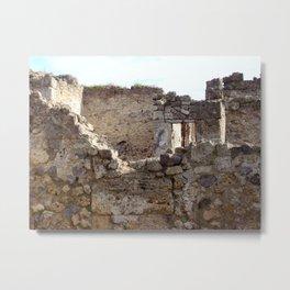 Pompeii Ancient Dwelling - 1 Metal Print