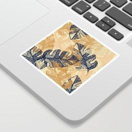 jungle tangle –navy, blush, gold Sticker