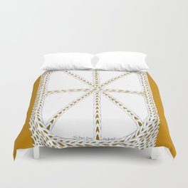 Patterns of Gold Duvet Cover