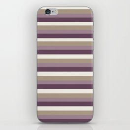 Stripes in Magenta, Lavender and Cream iPhone Skin