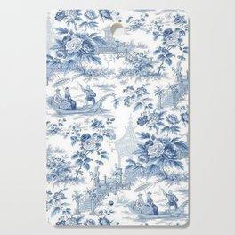 Powder Blue Chinoiserie Toile Cutting Board