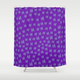 Crazy Harara Purple Shower Curtain