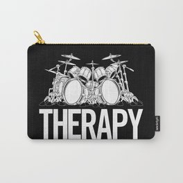 Drummers Therapy Drum Set Cartoon Illustration Carry-All Pouch