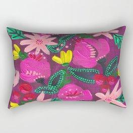 Magenta Blooms Rectangular Pillow