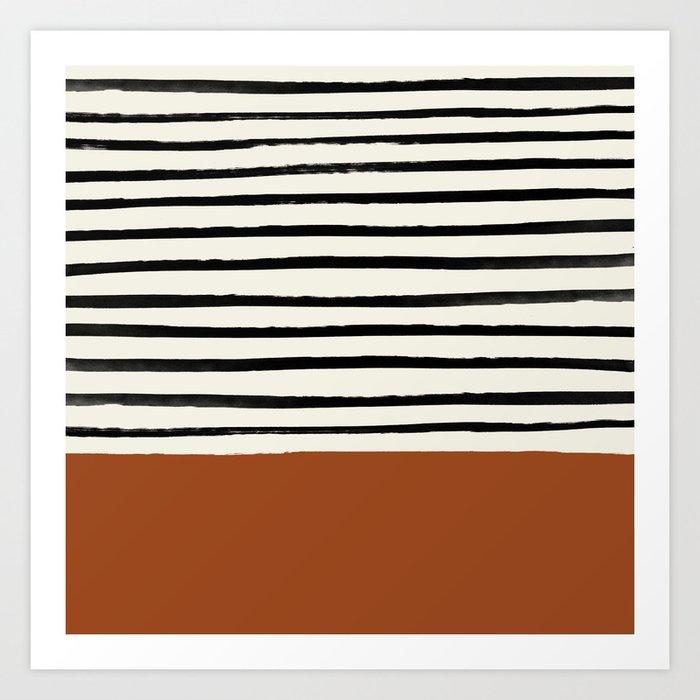 Burnt Orange x Stripes Kunstdrucke