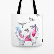 wild and free - pink Tote Bag