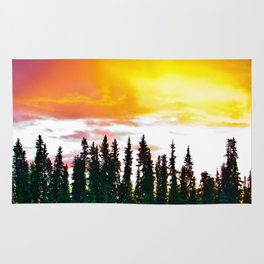 Summer Sun Almost Sets in Alaska Rug