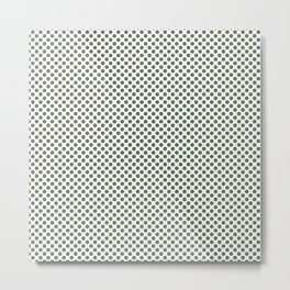 Vineyard Green Polka Dots Metal Print