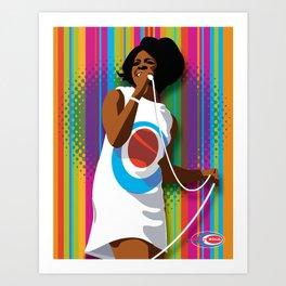 Gladys Subway Soul by Dawn Carrington Art Print
