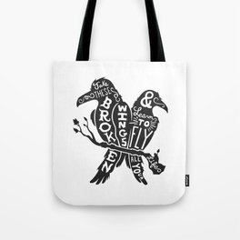 Blackbirds Singing Tote Bag