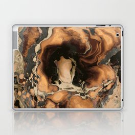 Old Brown Marble texture acrylic Liquid paint art Laptop & iPad Skin