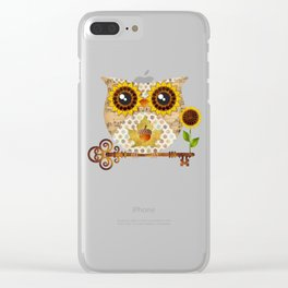 Owl's Autumn Song Clear iPhone Case