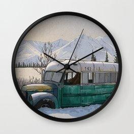 Into the Wild Fairbanks Bus Wall Clock