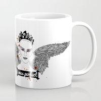 black swan Mugs featuring Black Swan by raeuberstochter